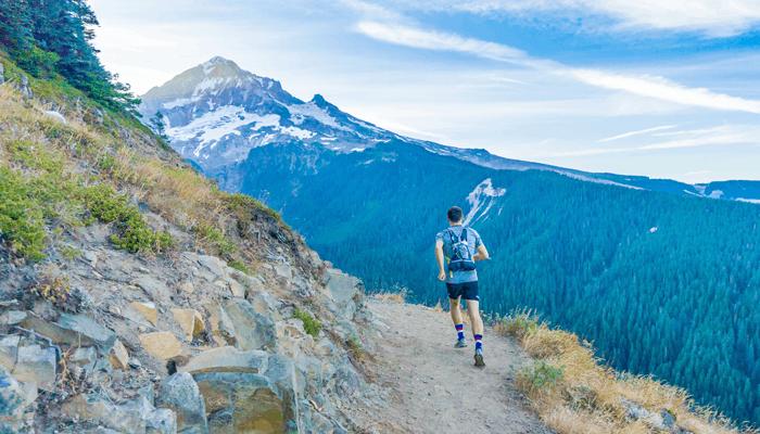 Corrida livre na montanha